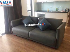 Hình ảnh Ghế sofa văng da cao cấp cho phòng khách nhà chung cư