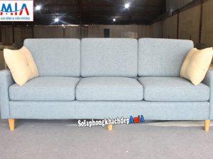 Hình ảnh Ghế sofa văng nỉ dài 3 chỗ kê phòng khách chung cư hiện đại