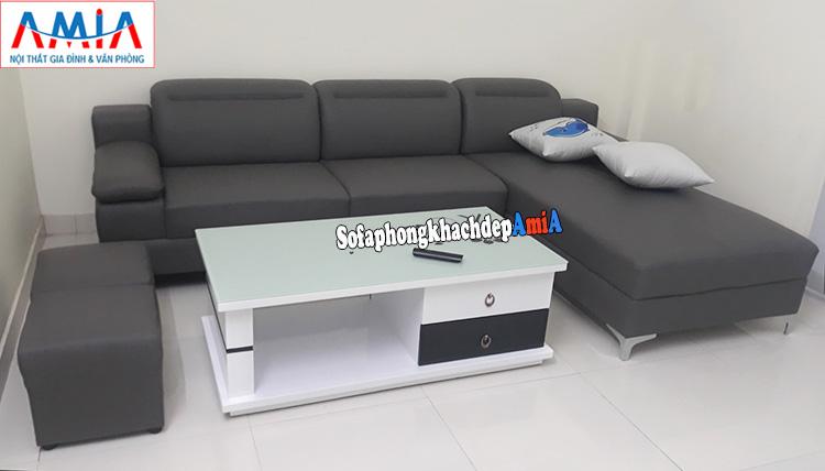 Hình ảnh sofa da nhập khẩu Hàn Quốc phòng khách cao cấp đẹp hiện đại