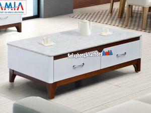 Hình ảnh mẫu bàn sofa mặt đá nhập khẩu hiện đại cho phòng khách đẹp