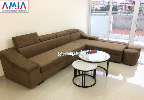 Hình ảnh Bàn trà sofa hiện đại kê phòng khách đẹp kết hợp ghế sofa góc chữ L