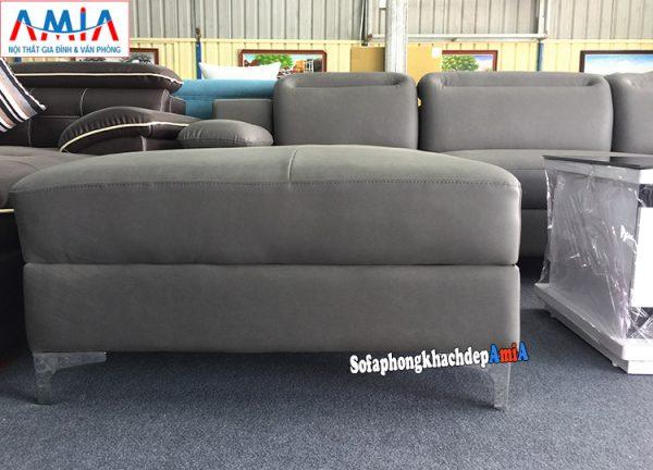 Hình ảnh chi tiết mẫu ghế sofa da đẹp kê phòng khách gia đình nhà phố, nhà chung cư