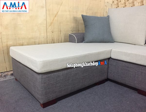 Hình ảnh Chi tiết mẫu sofa nỉ đẹp hình chữ L cho phòng khách đẹp hiện đại