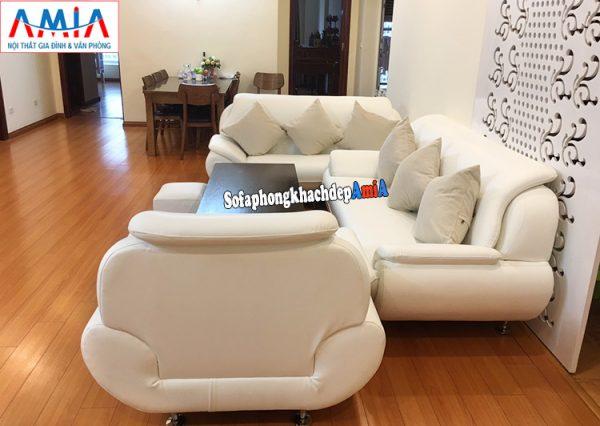 Hình ảnh Mẫu ghế sofa da Hàn xịn kê phòng khách cao cấp hiện đại