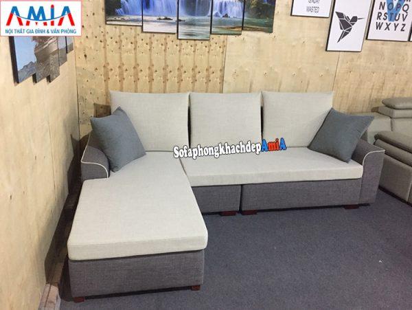 Hình ảnh Ghế sofa nỉ đẹp cho phòng khách hiện đại nhà phố, nhà chung cư nhỏ xinh