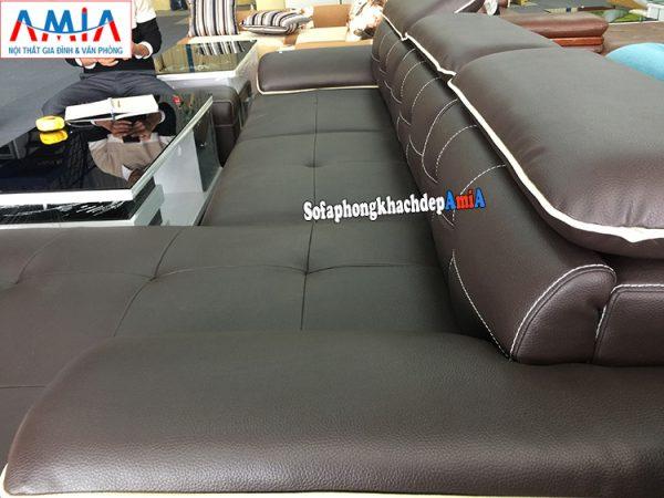 Hình ảnh mẫu ghế sofa da phòng khách hiện đại tại Nội thất AmiA Hà Đông