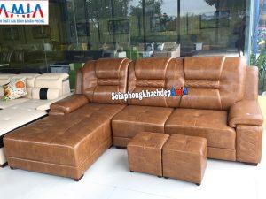 Hình ảnh Mẫu ghế sofa da đẹp cho phòng khách lớn cao cấp