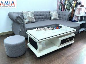 Hình ảnh Mẫu sofa nỉ đẹp cho phòng khách nhỏ nhà phố, chung cư, cửa hàng