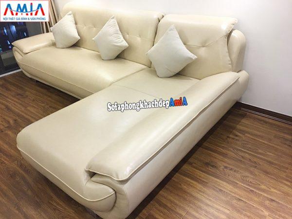 Hình ảnh Ghế sofa da cho phòng khách chung cư đẹp hiện đại