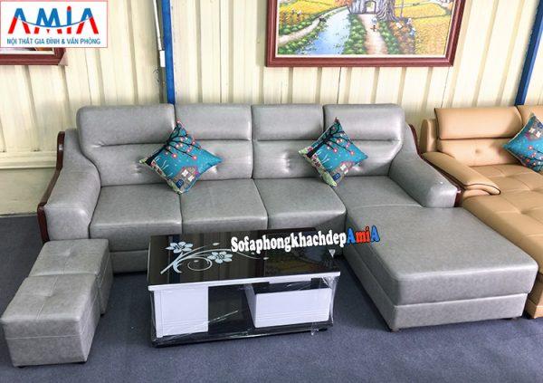 Hình ảnh ghế sofa da cho phòng khách lớn cao cấp tại Hà Nội màu giả đá đẹp mê ly