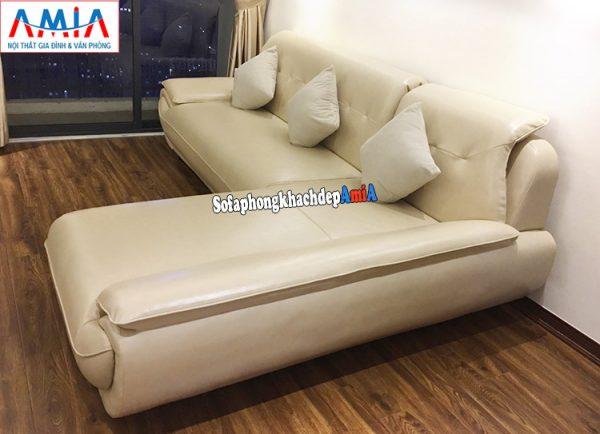 Hình ảnh Sofa da góc L kê chung cư đặt làm theo yêu cầu tại Nội thất AmiA