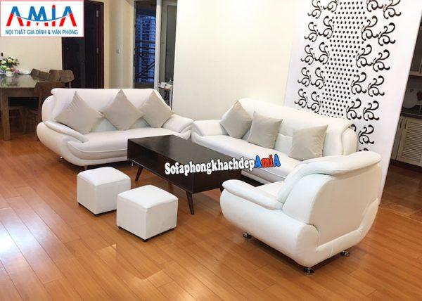 Hình ảnh Bộ sofa da Hàn cho phòng khách lớn cao cấp tại Hà Nội