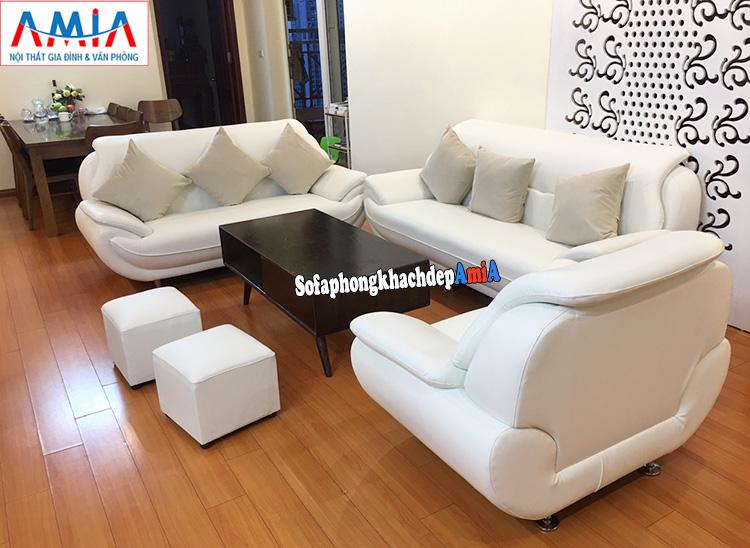 Hình ảnh Mẫu sofa da Hàn phòng khách cao cấp đẹp hiện đại