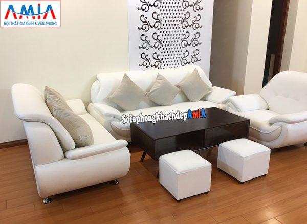 Hình ảnh Bộ sofa da Hàn Quốc nhập khẩu cho phòng khách lớn hiện đại