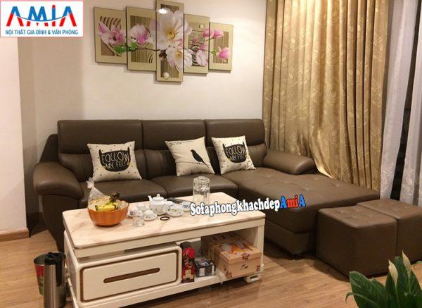 Hình ảnh Ghế sofa da Malaysia cho phòng khách đẹp AmiA SFD141c