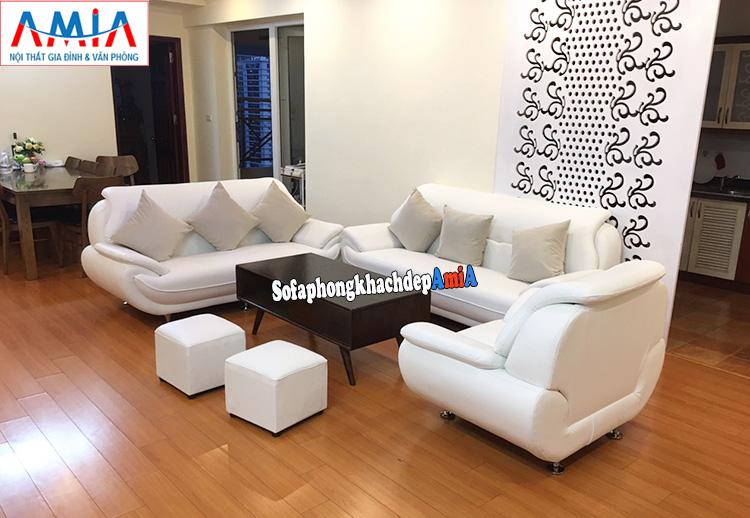 Hình ảnh Ghế sofa da nhập khẩu Hàn Quốc cho nhà phố, nhà chung cư đẹp hiện đại