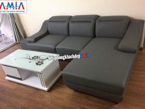 Hình ảnh Mẫu sofa da phòng khách đẹp hiện đại kết hợp bàn trà sofa đẹp màu trắng