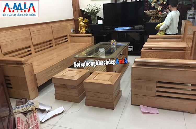 Hình ảnh sofa gỗ hiện đại tại Hà Đông có nhiều mẫu mã đẹp mà giá rẻ