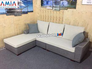 Hình ảnh Ghế sofa nỉ đẹp cho phòng khách nhỏ xinh thiết kế hình chữ L 3 chỗ tiện lợi