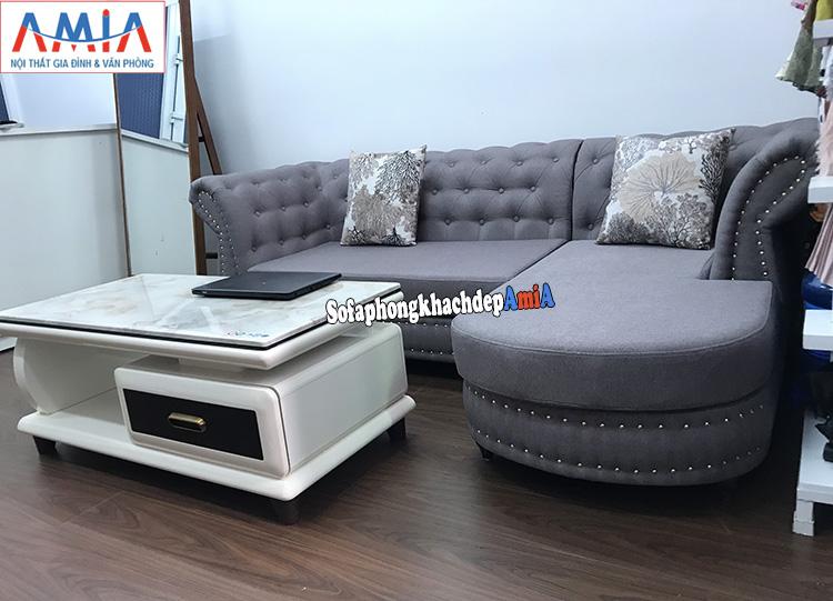 Hình ảnh Sofa nỉ đẹp hiện đại cho không gian nhỏ xinh thiết kế hình chữ L nhỏ