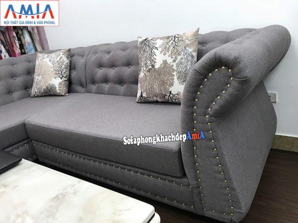 Hình ảnh Mẫu sofa nỉ đẹp kê không gian nhỏ xinh xắn cửa hàng quần áo, thời trang