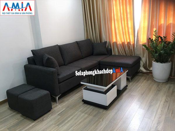 Hình ảnh Sofa nỉ nhỏ phòng khách chung cư giá rẻ tại Hà Nội