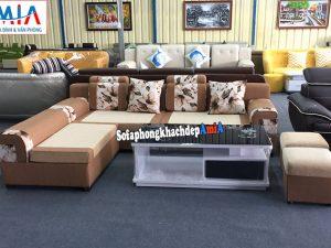 Hình ảnh Ghế sofa nỉ phòng khách đẹp giá rẻ cho nhà phố, nhà chung cư