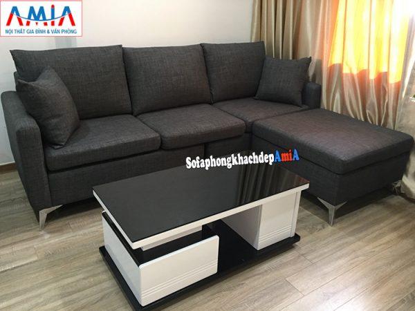 Hình ảnh Ghế sofa nỉ phòng khách nhỏ chung cư hiện đại giá rẻ