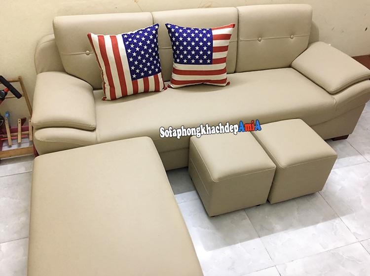 Hình ảnh Ghế sofa theo phong thủy người mệnh Thổ thiết kế dạng ghế văng hiện đại