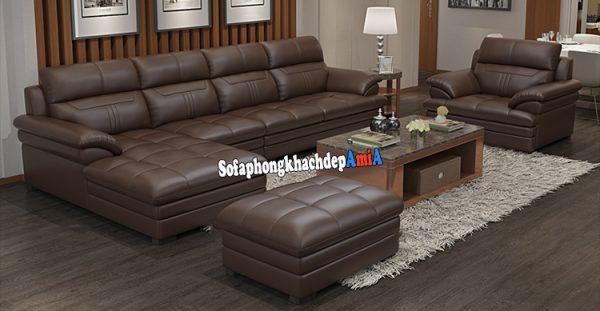Hình ảnh bộ bàn ghế sofa bọc da tốt cho phòng khách cao cấp