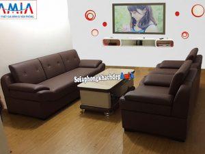 Hình ảnh Bộ bàn ghế sofa da phòng khách đẹp đặt làm theo yêu cầu riêng