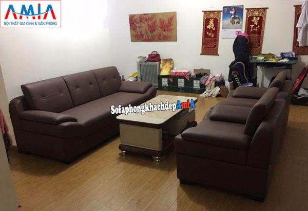 Hình ảnh Bộ bàn ghế sofa phòng khách đẹp thiết kế hiện đại cho phòng khách rộng