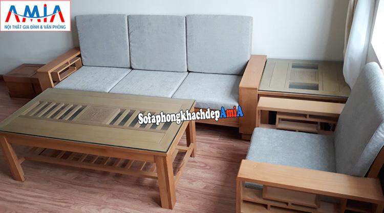 Hình ảnh Ghế sofa văng gỗ giá rẻ phòng khách chung cư đẹp
