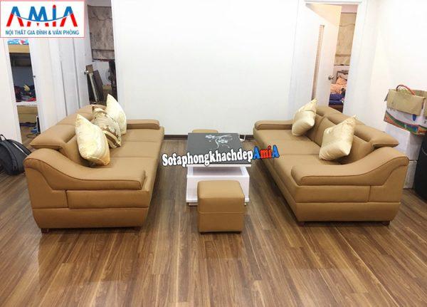 Hình ảnh Ghế sofa văng giá rẻ Hà Nội kê phòng khách chung cư rộng