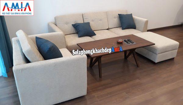 Hình ảnh ghế sofa văng nỉ giá rẻ Hà Nội nhà chung cư đẹp hiện đại