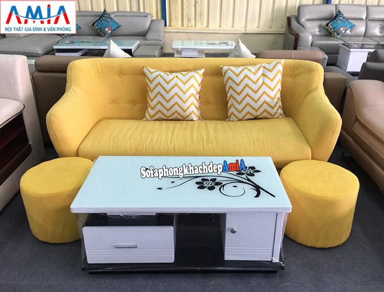 Hình ảnh Bàn ghế sofa nhỏ gọn cho phòng khách thiết kế dạng ghế sofa văng