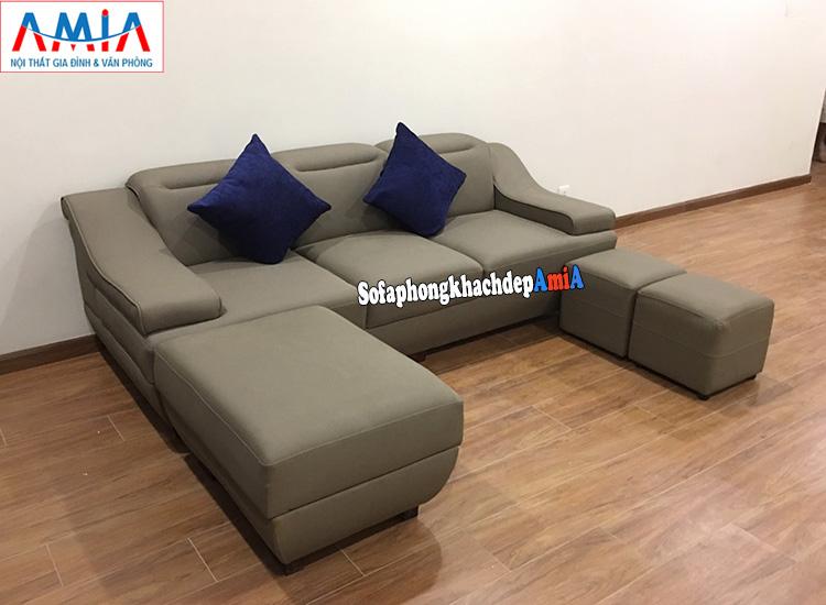 Hình ảnh Bộ ghế sofa nhỏ gọn giá rẻ tại Hà Nội dạng văng 3 chỗ
