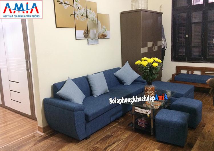 Hình ảnh Ghế sofa nhỏ đẹp hiện đại giá rẻ kê phòng khách nhà phố