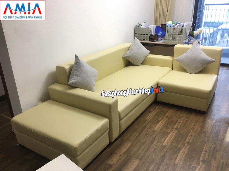 Hình ảnh Bộ ghế sofa nhỏ gọn cho nhà chung cư thiết kế dạng sofa giường