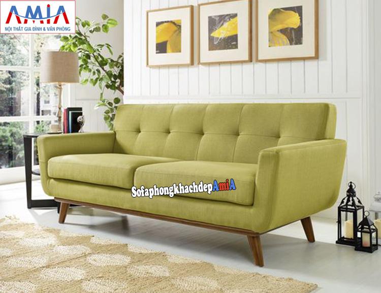 Hình ảnh Ghế sofa văng nhỏ gọn 2 chỗ chất liệu nỉ hiện đại, êm ái