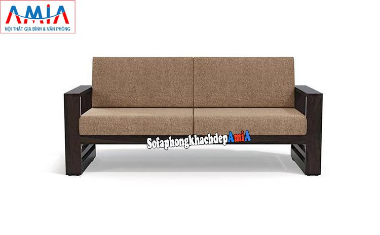 Hình ảnh Ghế sofa gỗ nhỏ gọn cho phòng khách nhỏ thiết kế dạng văng 2 chỗ