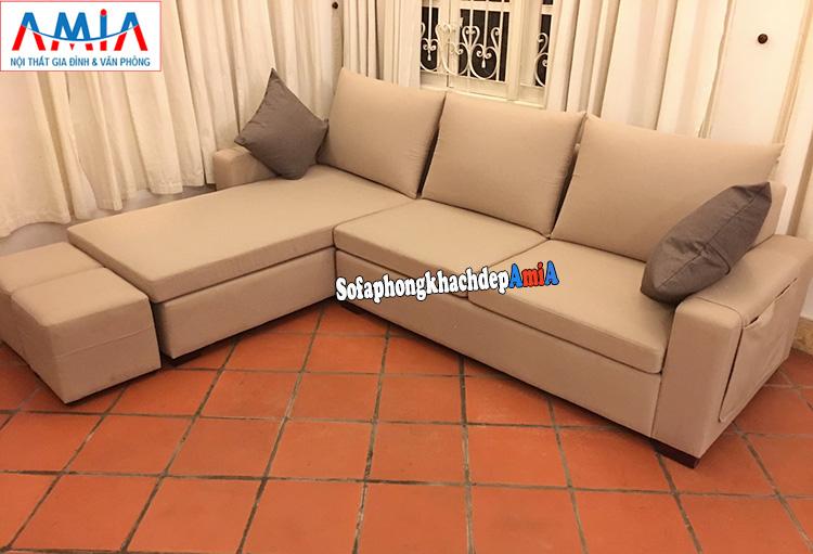 Hình ảnh Sofa góc nhỏ gọn kê phòng khách gia đình