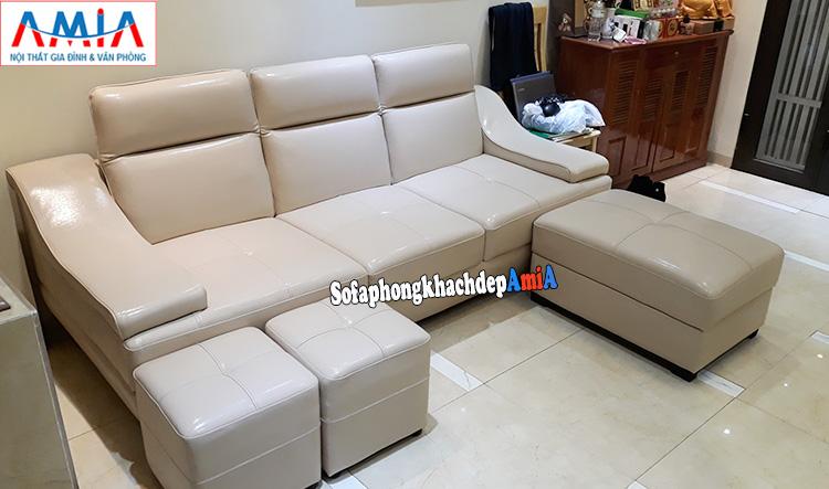 Hình ảnh Ghế sofa nhỏ đẹp cho phòng khách thiết kế dạng ghế văng 3 chỗ