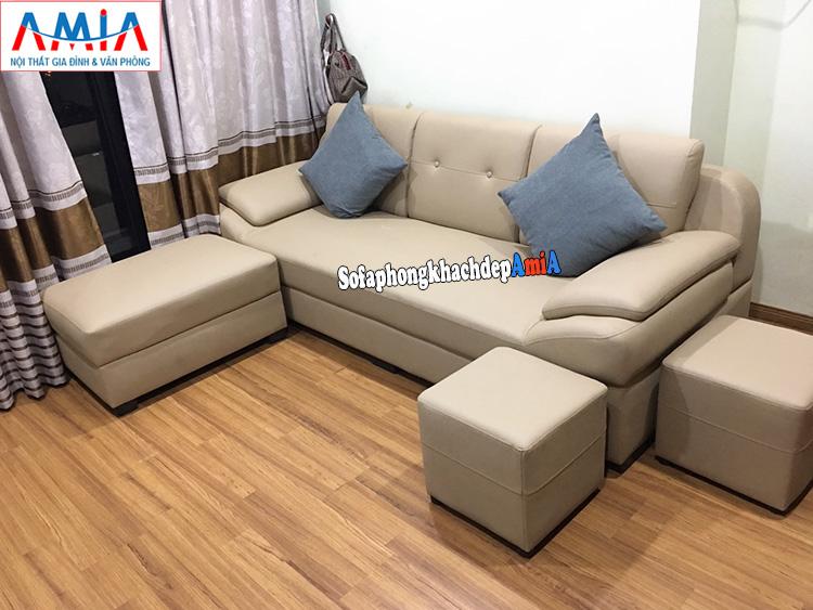 Hình ảnh sofa phòng khách nhỏ gọn giá rẻ cho phòng khách chung cư