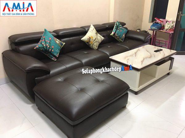 Hình ảnh Mẫu sofa văng dài cho phòng khách nhỏ hẹp bài trí sát tường