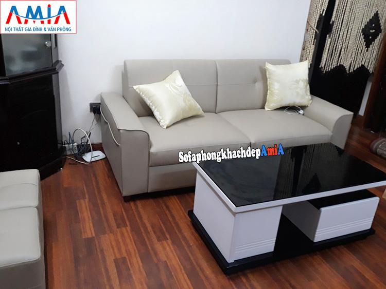 Hình ảnh sofa văng nhỏ mini giá rẻ cho phòng khách nhỏ thiết kế 2 chỗ