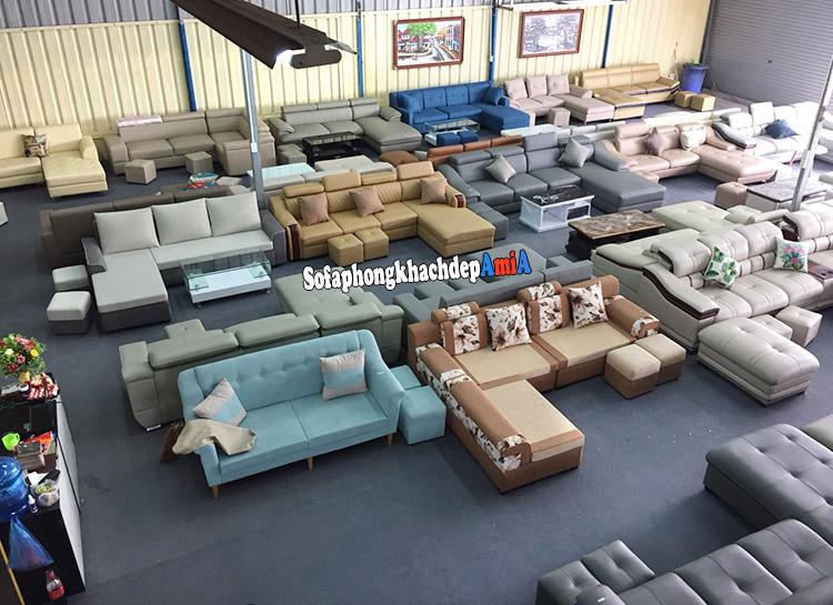 Hình ảnh Nơi bán ghế sofa nhỏ giá rẻ Hà Nội cực nhiều mẫu sofa có sẵn