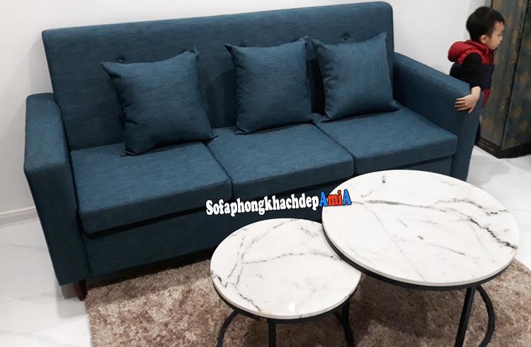 Hình ảnh Bàn ghế sofa nhỏ gọn hiện đại kê không gian nhỏ xinh