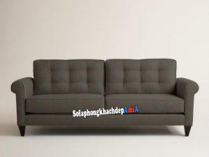 Hình ảnh Ghế sofa đơn nhỏ bằng nỉ thiết kế 2 chỗ có rút khuy đính cúc