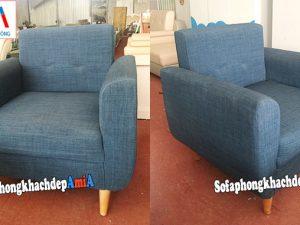 Hình ảnh Ghế sofa đơn nhỏ giá rẻ có tay vịn chụp tại kho nội thất AmiA